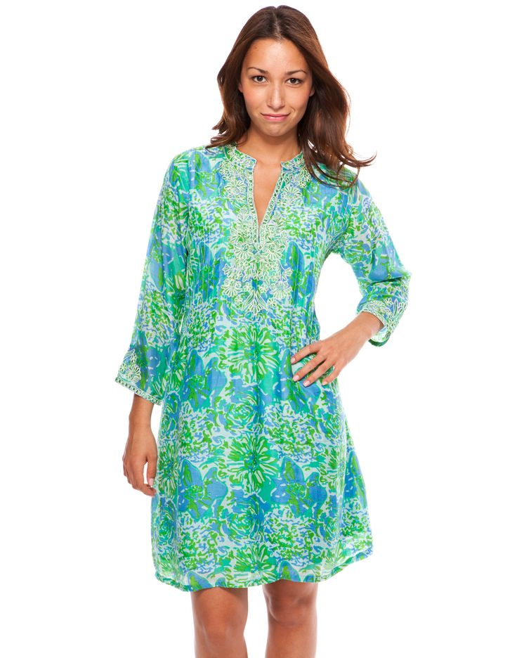 Julie Dress - Lexi Print, Green