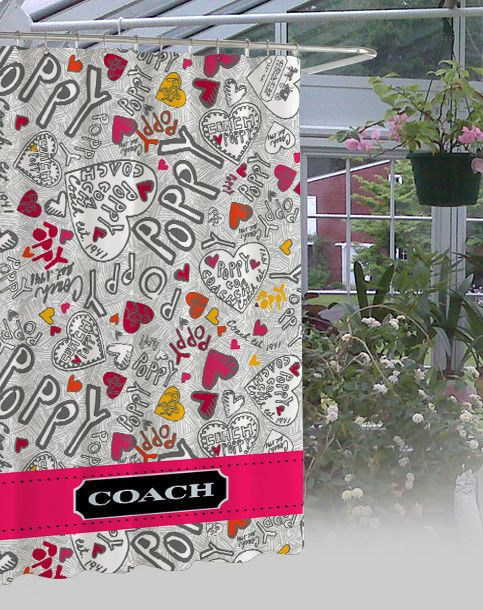 """New Coach Poppy Design Limited Edition High Quality Shower Curtain 60""""x72""""  #Unbranded #Modern"""