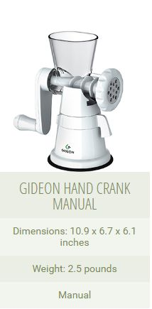 how to use GIDEON HAND CRANK MANUAL MEAT GRINDER
