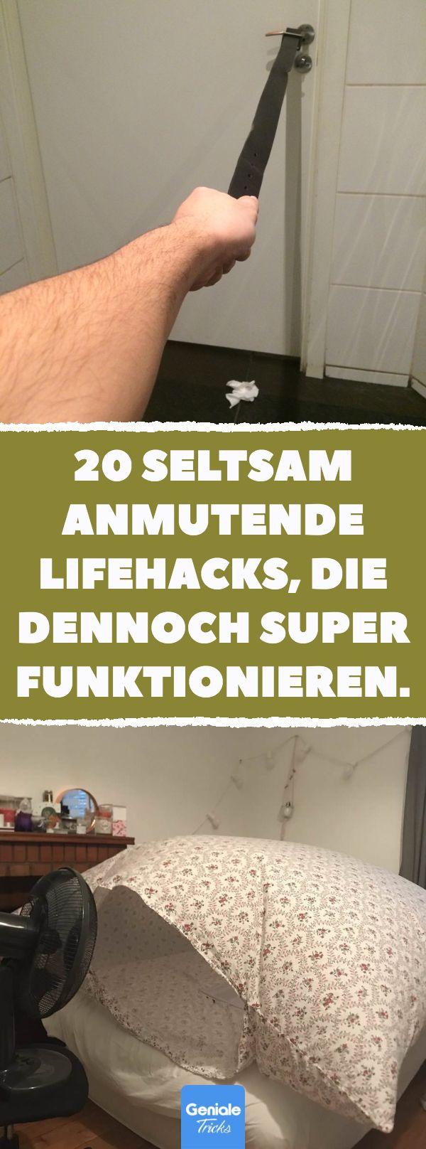 20 seltsam anmutende Lifehacks, die dennoch super funktionieren. #lifehacks #tip…