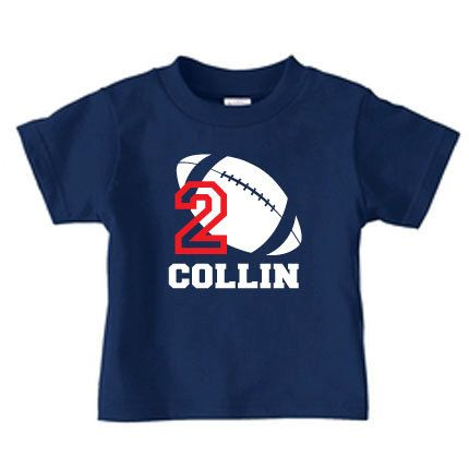 Personalized football t-shirt, football number t shirt for boys