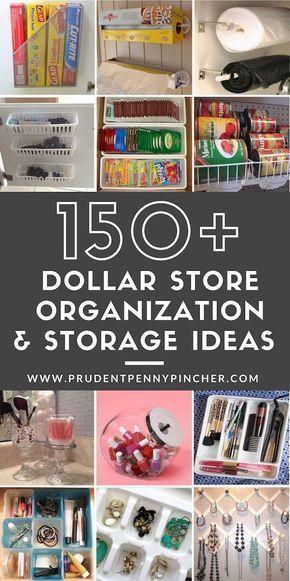 150 DIY Dollar Store Organization and Storage Idea…