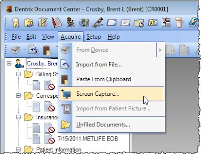 Dentrix Tip Tuesdays: Screen Capture Tool
