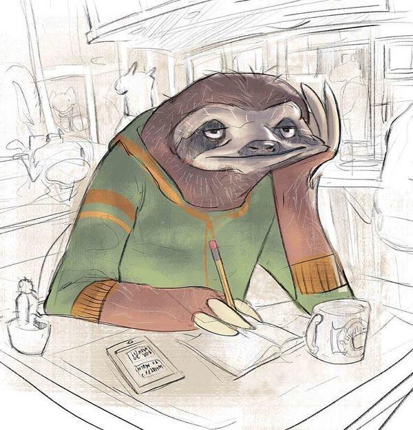 Животные-художники арт, рисунок, Художник, Животные, длиннопост, фурри