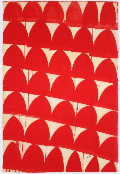 "Svetlana Rabey    Untitled, 2010  Ink on gampi paper  24 x 30"""