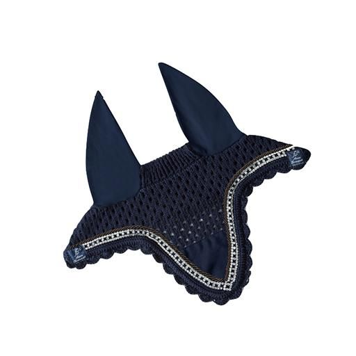 ANNA SCARPATI DESIGN YOUR OWN - ZIP FLY VEIL The Anna Scarpati Custom Short Fly Veil is a shorter length Anna Scarpati Fly Hood which covers the horses ears to block out the noise to help him focus whilst still staying breathable and cool. This Fly Veil has a scalloped edge and an embroidery patch for logos or branding. The Anna Scarpati Custom Short Fly Veil looks incredibly smart when matched to the Anna Scarpati saddle pads.