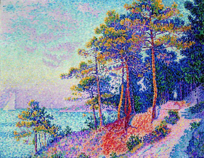 Bord de mer (le sentier de douane St Tropez) - Paul Signac - 1905