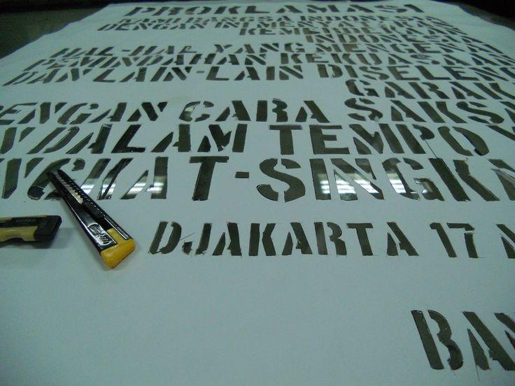 PROKLAMASI typography