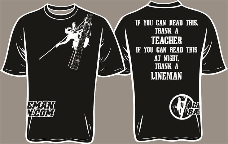Thank a lineman. Lineman Barn, LLC - Lineman T-Shirts, Decals and More!