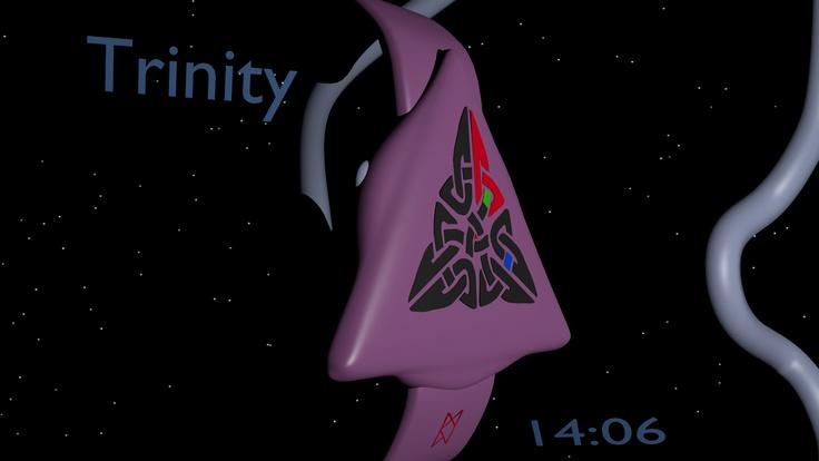 LED watch based on the Celtic Trinity symbol 05