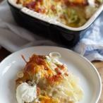 Gegratineerde Aardappelen met Bacon en Kaas