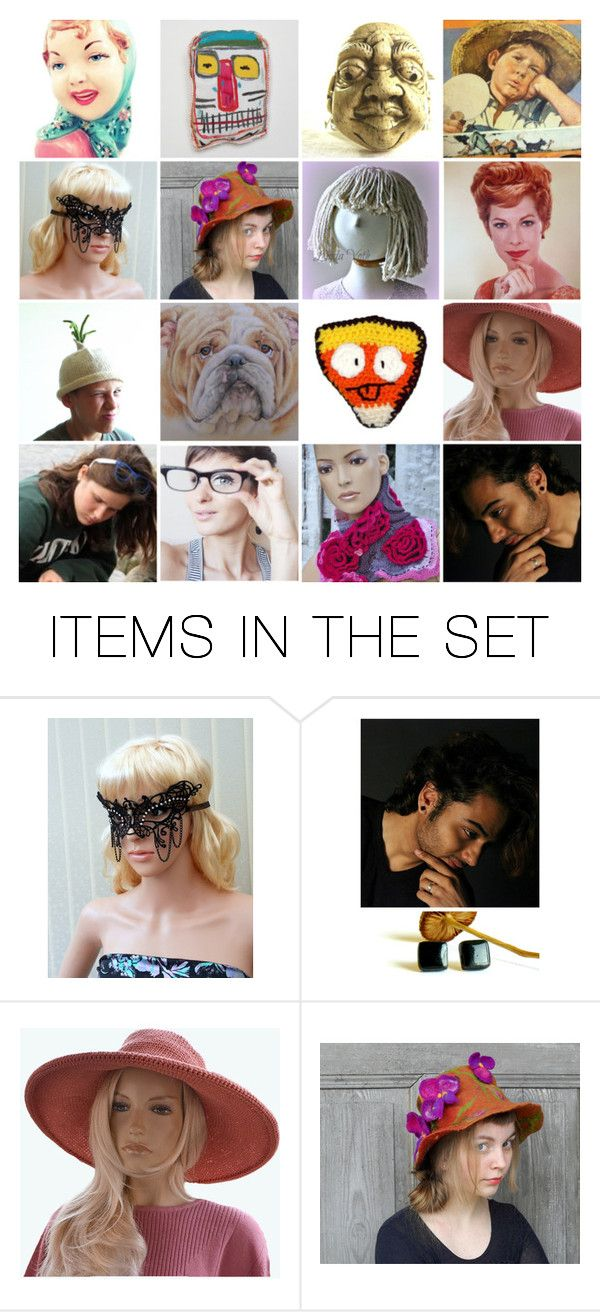 """Who is who?"" by canisartstudio ❤ liked on Polyvore featuring art, vintage, etsy, handmade and CanisArtStudio"