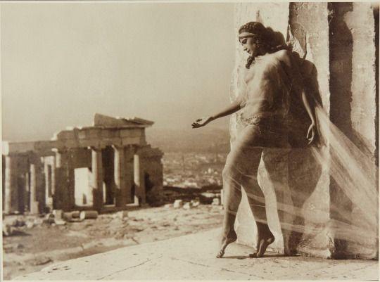 Nelly - The dancer Nikolska on the Acropolis, Athens, 1929/kalid paola