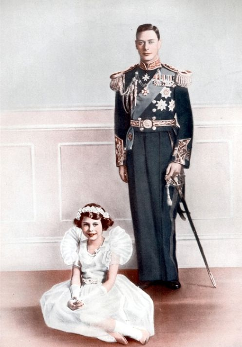 With her father