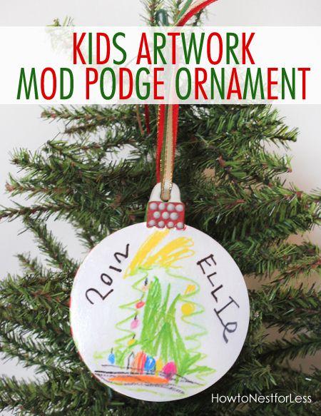 Easy Kid's Artwork Ornament!