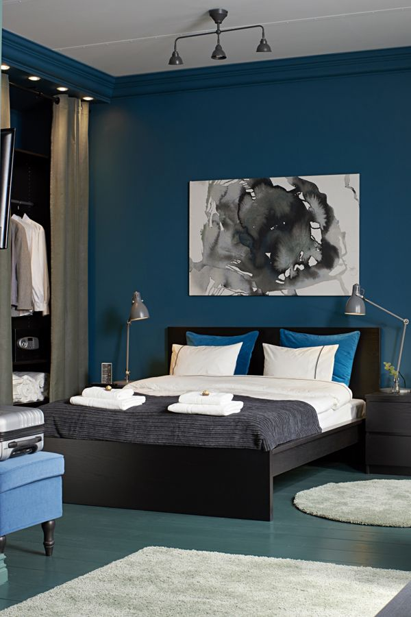 Use Shades Of Blues And Grays To Create A Calming Bedroom! From Soft IKEA  Bedding