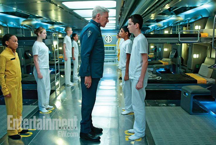 Colonel Graff staring down Ender Wiggin.  Excuse me whilst I run around my house flailing and squeeing like a crazy person.