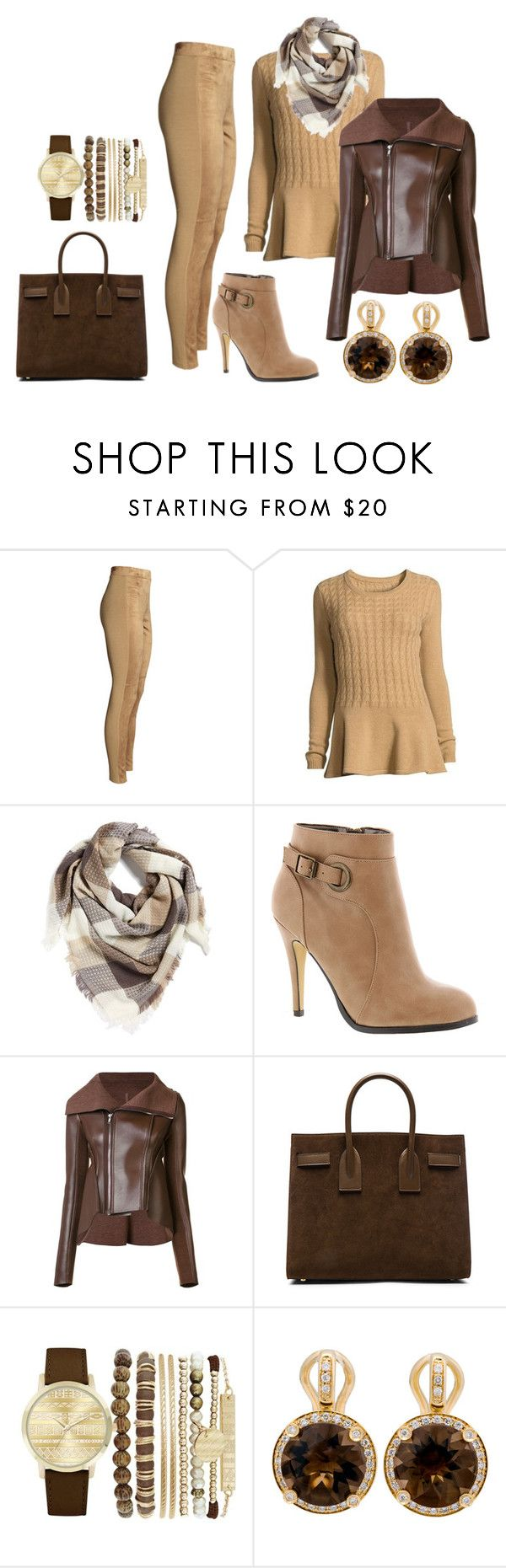 """Untitled #268"" by hsimon0526 ❤ liked on Polyvore featuring Neiman Marcus, BP., Michael Antonio, Rick Owens Lilies, Yves Saint Laurent, Jessica Carlyle and Poiray Paris"