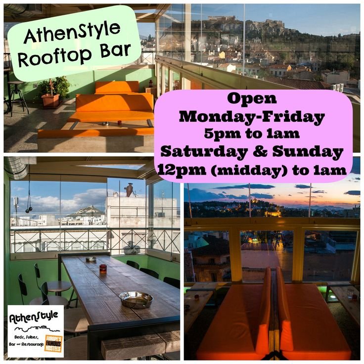 Autumn is here and our famous Rooftop Bar & Café is on fire! It is open every day, from Monday to Friday from 5pm and on Weekends from 12pm (midday) until 1am!!! Enjoy your coffee along with an amazing view all around Athens, and later at night let's have fun with some drinks together with the Acropolis! See you all there!! :D