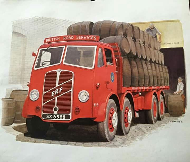 Erf 8 Wheeler British Road Services With Barrels Old