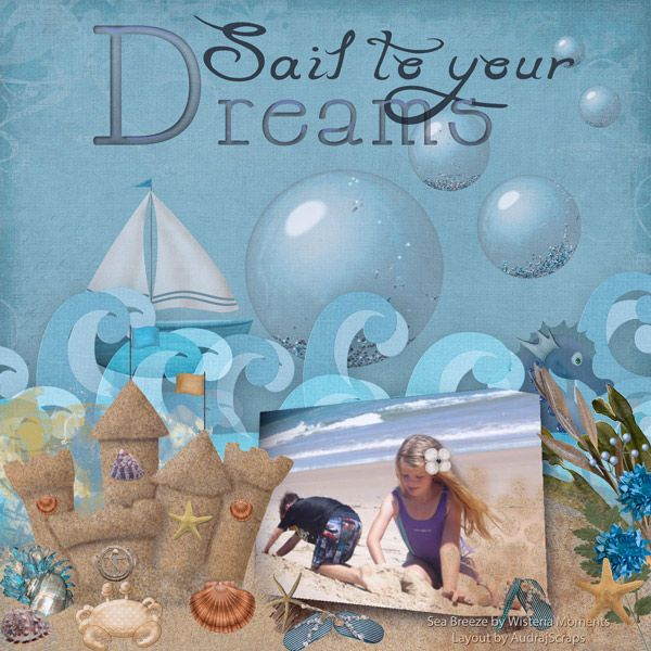**NEW** Sea Breeze by Wisteria Moments Available @ http://www.pixelsandartdesign.com/store/index.php?main_page=product_info&cPath=128_130&products_id=1281 Layout by AudrajScraps