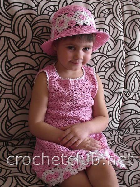 Платье и шляпку в стиле для девочки