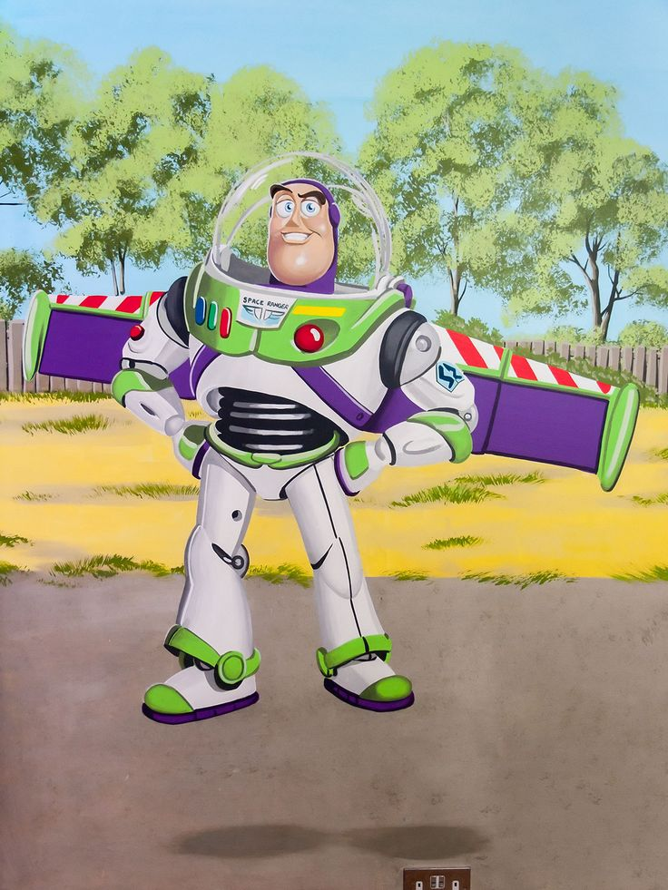 17 best images about boy 39 s room mural with characters from for Buzz lightyear wall mural