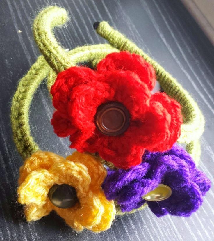 Loopeeeee: Flower Head Band - $7 Choice of Red, Yellow, blue or Purple flower