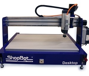 The ShopBot is a low-cost CNC, or computer controlled router. Think of it as a large-scale milling machine. It is great for small-scale production runs of machine parts in wood or metal.