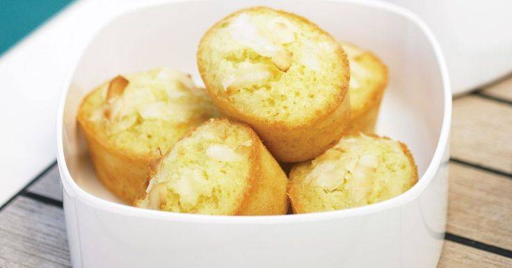 Fans of coconut will adore these little lime friands.