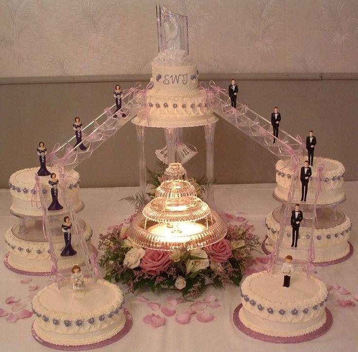 Kuchen Dekorieren Techniken: 4 Tier Weiße Hochzeitstorte Mit Weißen Rosen