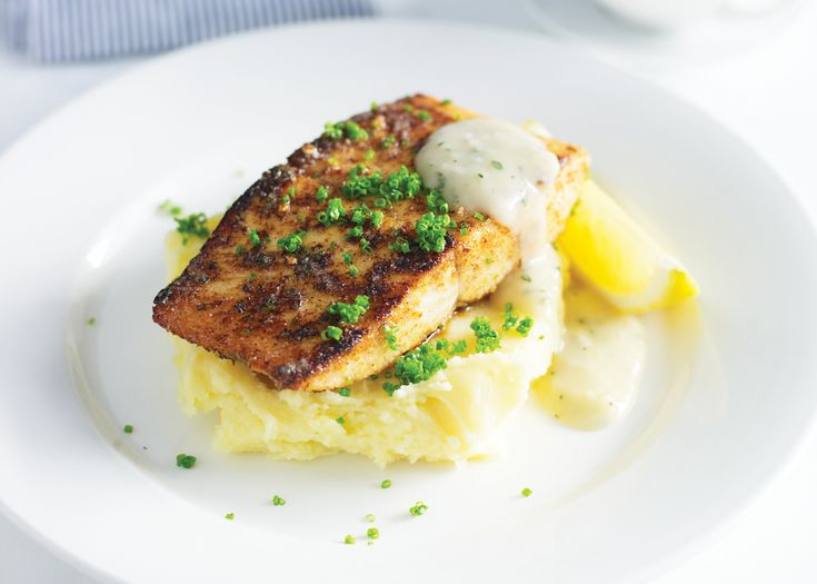 pan-fried kingfish with creamy mashed potatoes | #seafood #kingfish #dinnerparty #recipe #foodwise