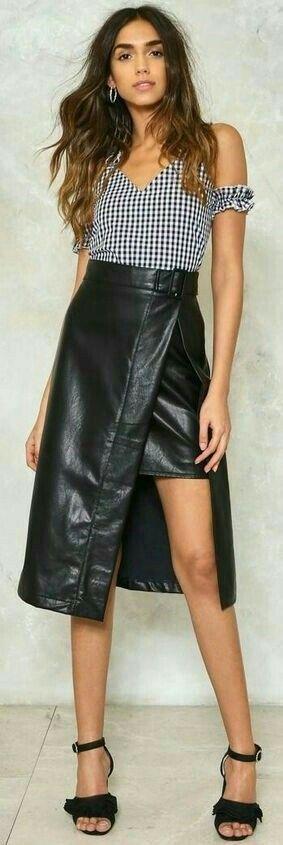 Lederlady | Lederrock, Anziehsachen, Anziehen