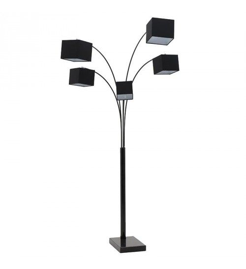 METALLIC FLOOR LAMP IN BLACK COLOR W_5 LIGHTS 190X140X225