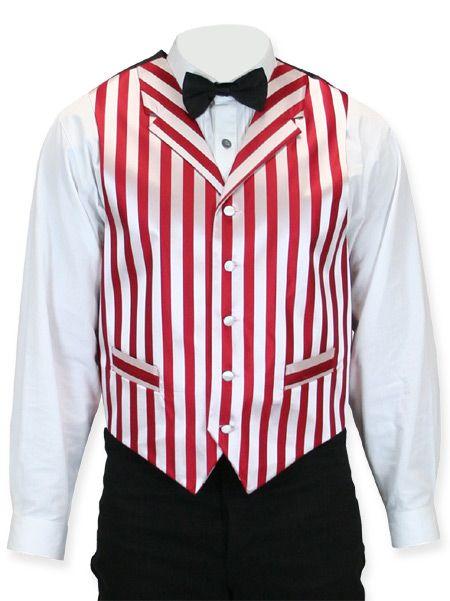 Ragtime Vest - Red/White Stripe