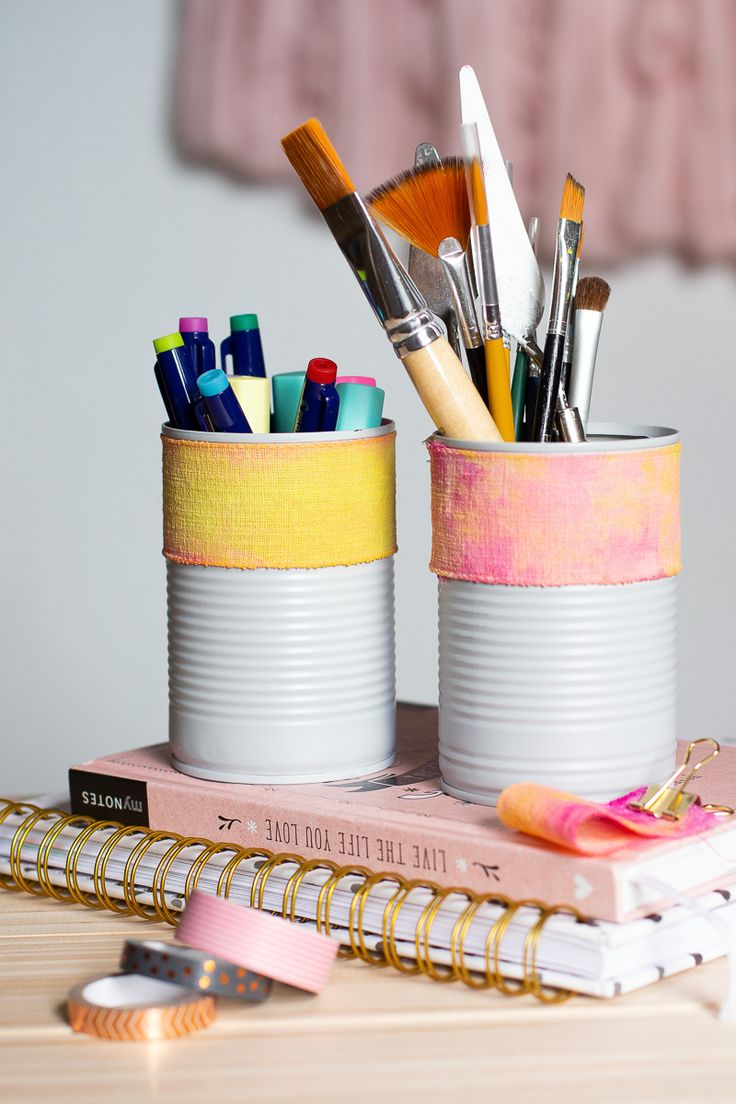 DIY Stifthalter aus Blechdose selber