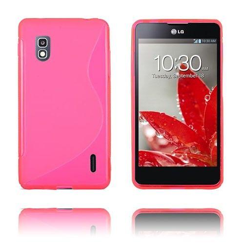 S-Line (Vaaleanpunainen) LG Optimus G E975 Suojakuori