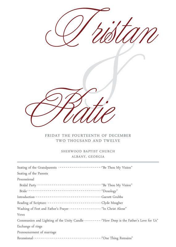 Glittery Elegant Wedding Programs By Thecottongin On Etsy 1200 Metallic Program