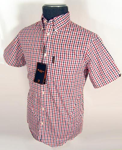 Lovely Ben Sherman red, white and blue gingham shirt
