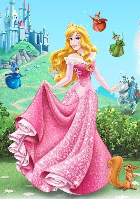 Princesa aurora nova e lindaaaaaaaaa com seus amigos,castelo.....
