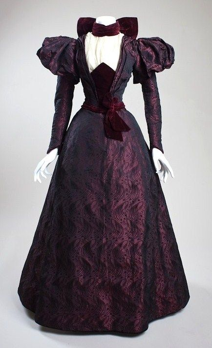 purple victorian dress nouveau victorian burlesque