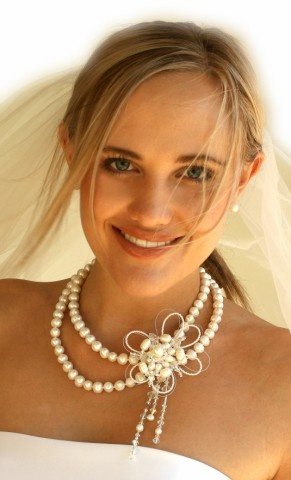 Handmade fresh water pearl double strand necklace, beautiful for brides wedding and formals  www.redki.com.au