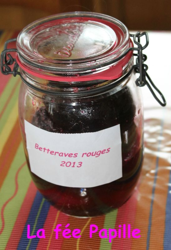 Betteraves rouges en conserve