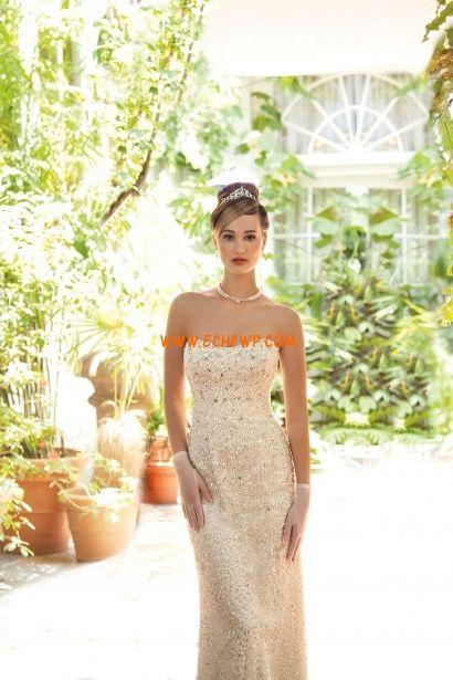 Apliques Cremallera Natural Vestidos de novias 2014