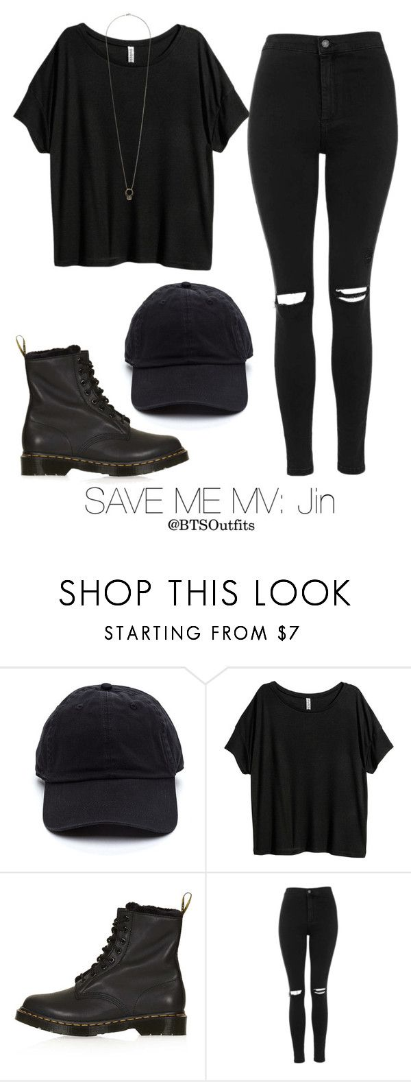 """Save Me MV: Jin"" by btsoutfits ❤ liked on Polyvore featuring H&M and Topshop"