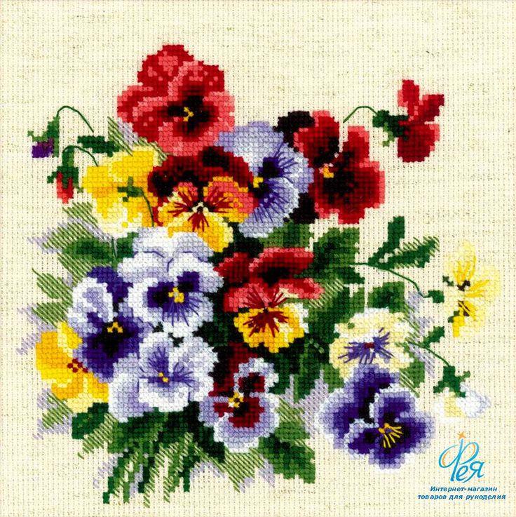 Картинка цветочка крестиком