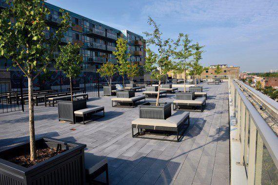 Unilock - Queen and Portland Condominium with Umbriano Pavers in Ontario