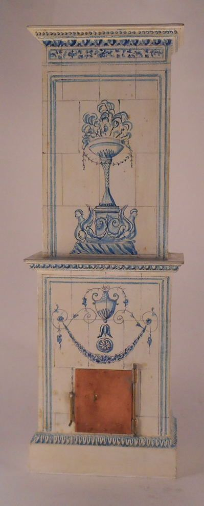 Fireplace by Ruth Pollock - $885.00 : Swan House Miniatures, Artisan Miniatures for Dollhouses and Roomboxes