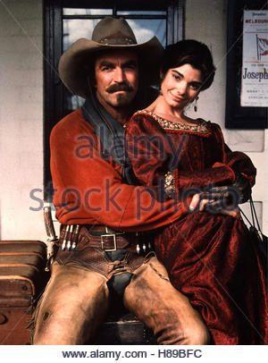 Quigley, Der Australier, (QUIGLEY DOWN UNDER) USA 1990, Regie: Simon Wincer, TOM SELLECK + LAURA SAN GIACOMO - Stock Photo