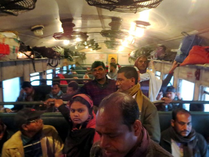 The third class carriage of the InterCity train between Rajshahi and Khulna, Bangladesh.